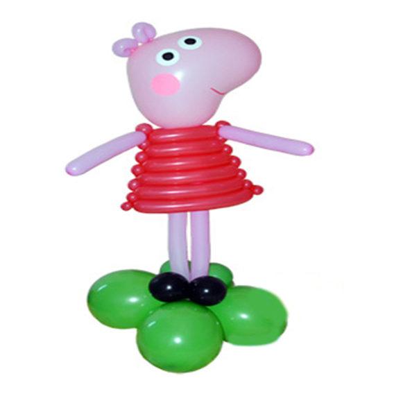 Свинка пеппа из шаров