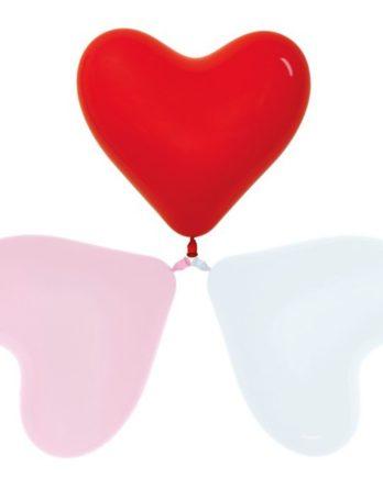Сердце белое, розовое, красное