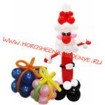 """Дед Мороз с подарками из шаров - Праздничное агентство """"Хорошее настроение"""", Новокузнецк"""