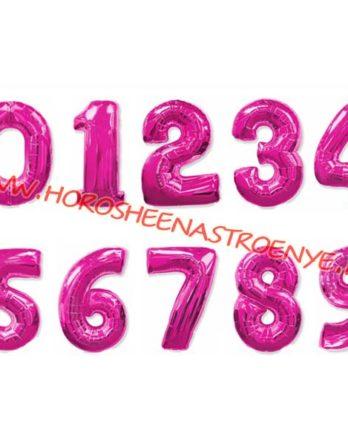 """Цифра фольгированная фуше - Праздничное агентство """"Хорошее настроение"""", Новокузнецк"""