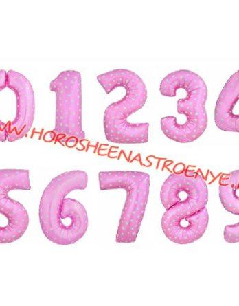 """Цифра фольгированная розовая - Праздничное агентство """"Хорошее настроение"""", Новокузнецк"""