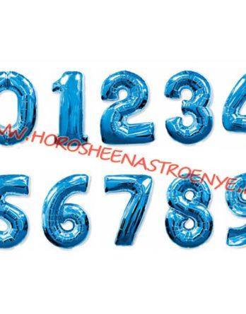 """Цифра фольгированная синяя - Праздничное агентство """"Хорошее настроение"""", Новокузнецк"""