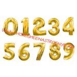 """Цифра фольгированная золото - Праздничное агентство """"Хорошее настроение"""", Новокузнецк"""